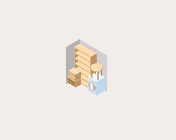 Макет маленькой комнаты хранения